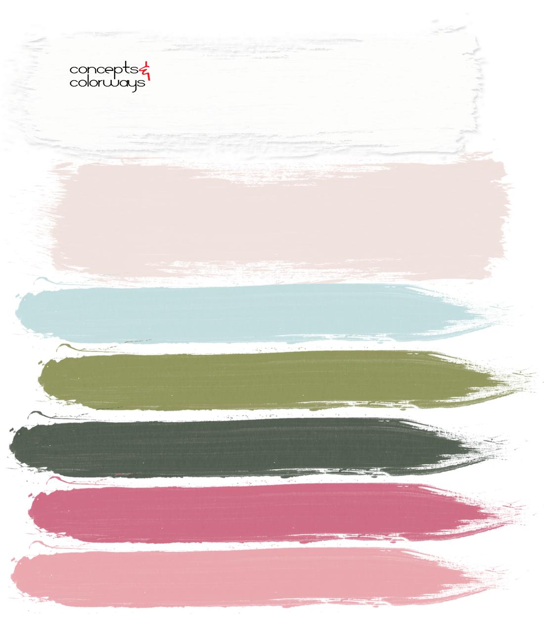 bubblegum pink, pink and green, blush pink, blush pink walls, aqua blue, turquoise blue, sage green, dark green, pretty color palettes, feminine color palette, color palette, pink blooms, blooming garden, paint palette