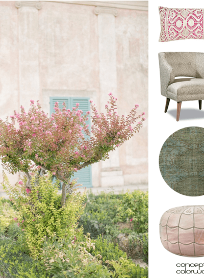 A PINK AND GREEN HOME INTERIOR INSPIRED BY A BLOOMING GARDEN