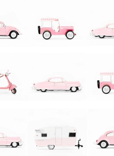 PINK MATCHBOX CARS ART PRINTS