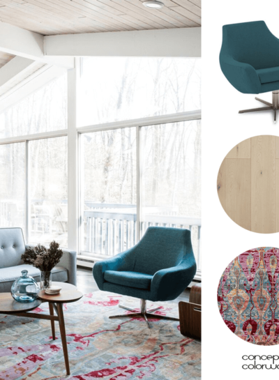 TAKING A BLAND SUMMER HOME TO A MID CENTURY MODERN HAVEN