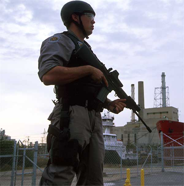 Anti Terrorism Officers at the port