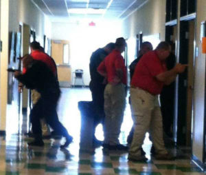 School Security Officers in Active Shooter Training
