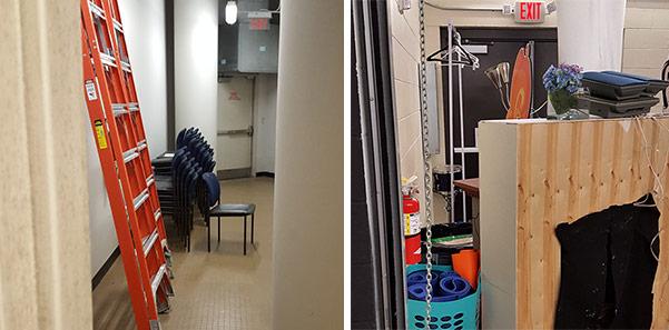 Egress Obstructions at Exit Doors