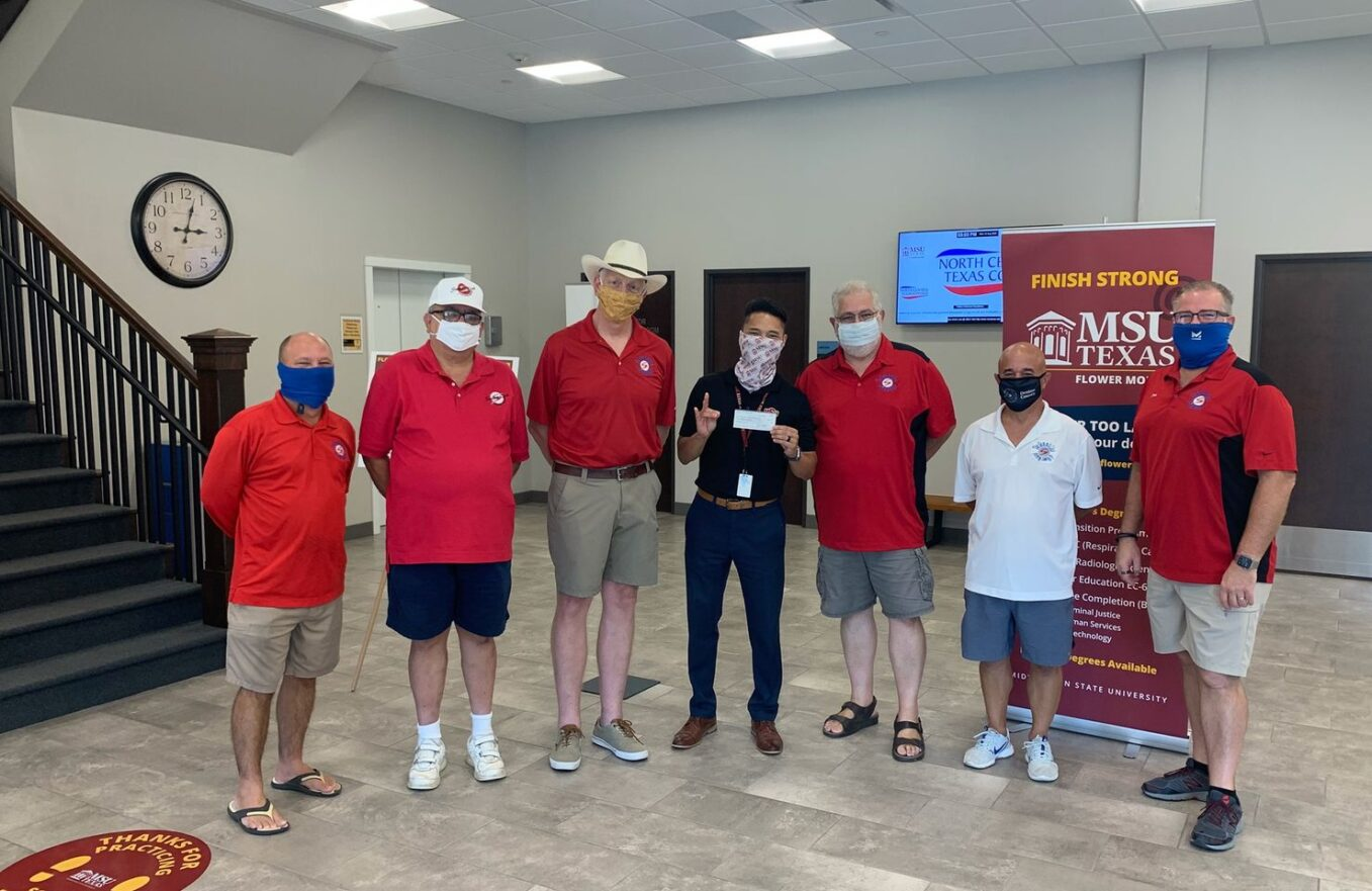 Summit Club Donates $2000 to Aid Local Midwestern State University Flower Mound Students