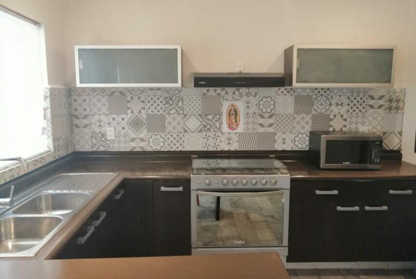 barra cocina isla azul