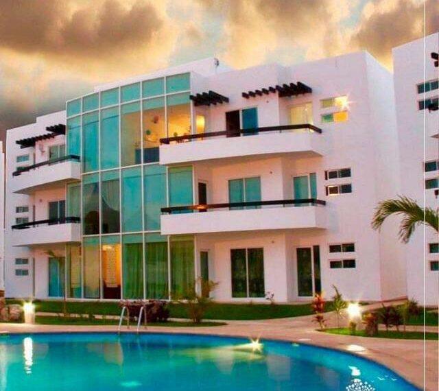 fachada depa venta cancun