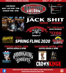 Dirty Dogg Saloon Presents: Spring Fling 2020