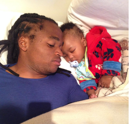 Shabba and his baby resting