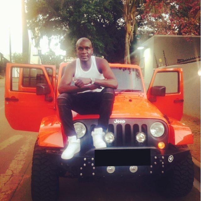 Photo of Kaizer Chiefs defender Ivan Bukenya shows off his Jeep