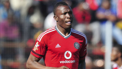 Tendai Ndoro of Orlando Pirates during the 2015 King's Super Cup match between Orlando Pirates and Royal Leopards at the Somhlolo Stadium in Mbabane, Swaziland on July 18, 2015 ©Muzi Ntombela/BackpagePix