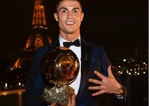 Ronaldo Reacts To Winning His 5th Ballon d'Or