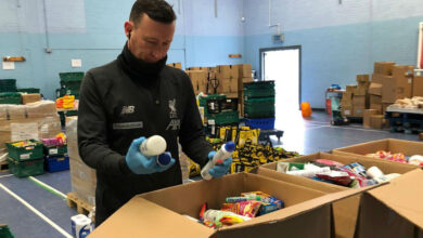 "Photo of Forbes Duff, manager of Red Neighbours, said: ""We have a long-standing relationship with the North Liverpool Foodbank…"""