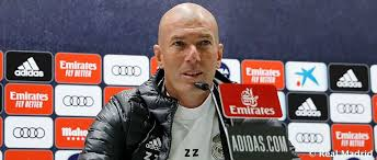 "Photo of Real Madrid Coach Zinedine Zidane: ""We`re All Set For The Return To LaLiga Action"