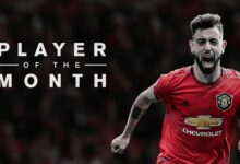 Photo of Manchester United`s Bruno Fernandes Wins Premier League Player Of The Month Award