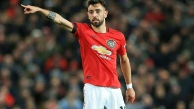 Photo of Man Utd's Bruno Fernandez Wins Man Of The Match v Leicester