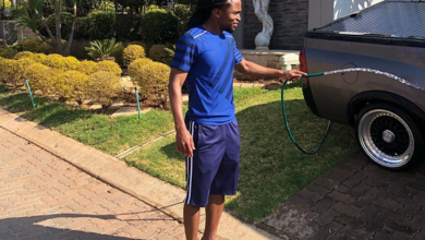 Modest Siphiwe Tshabalala Still Drives His Opel Utility!