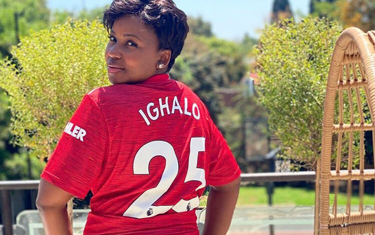 Carol Tshabalala Receives Personalised Shirt From Odion Ighalo!