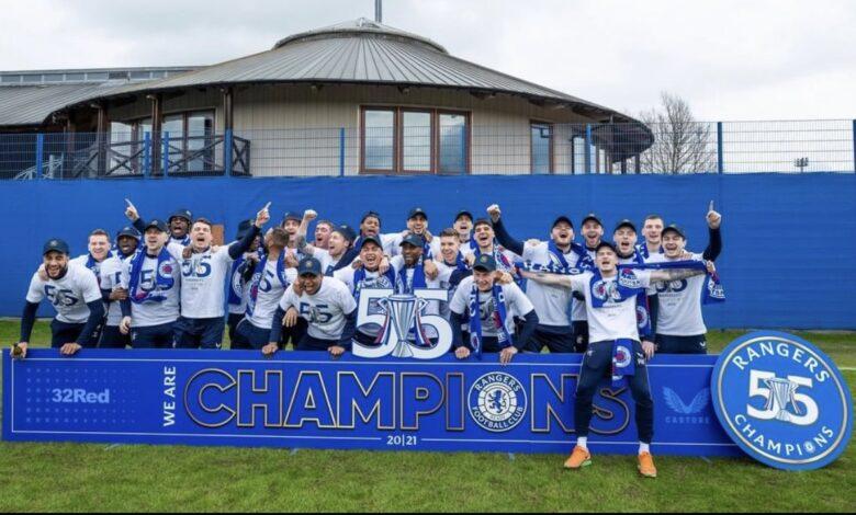 Bongani Zungu Celebrates Winning The Scottish League Title!