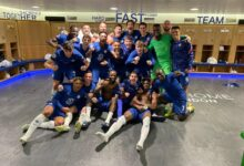 Chelsea Players Celebrate Reaching Champions League Final!