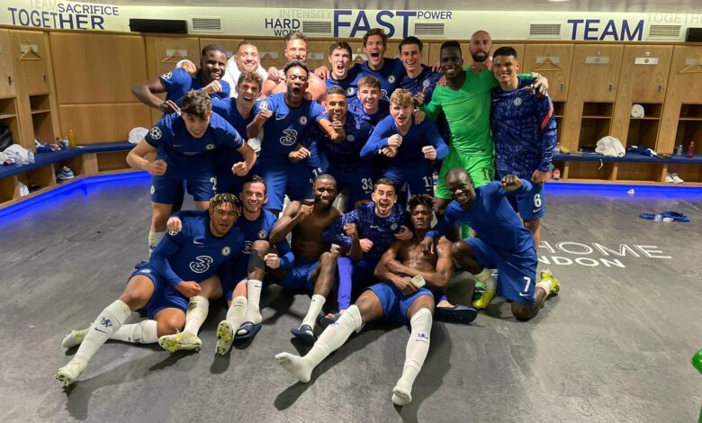 Chelsea Players Celebrate Reaching Champions League Final!