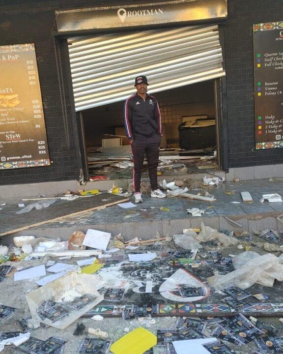 Lucky Lekgwathi's Grootman Restaurant Looted as Riots Continue!