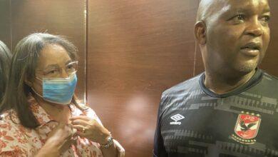 Patricia De Lille Visits Al Ahly Coach Pitso Mosimane!