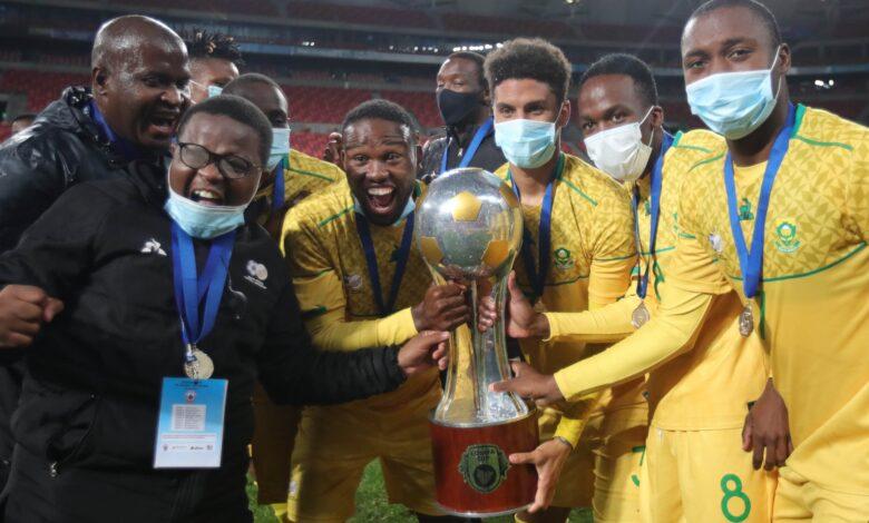 Reaction As Bafana Bafana Claims the 2021 COSAFA Cup Trophy!