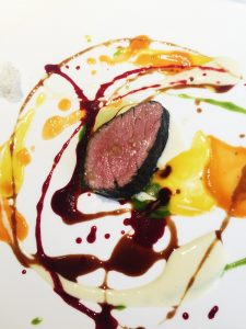 Osteria Francescana Beautiful, psychedelic, spin-painted veal, not flame grilled