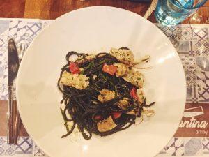 La Cantina di Miky best restaurant cinque terre squid ink