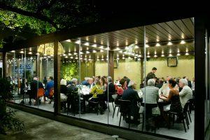 Identità Golose Milano outdoor at night