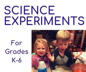 Science Experiments for US grades K-6 from Science Connected