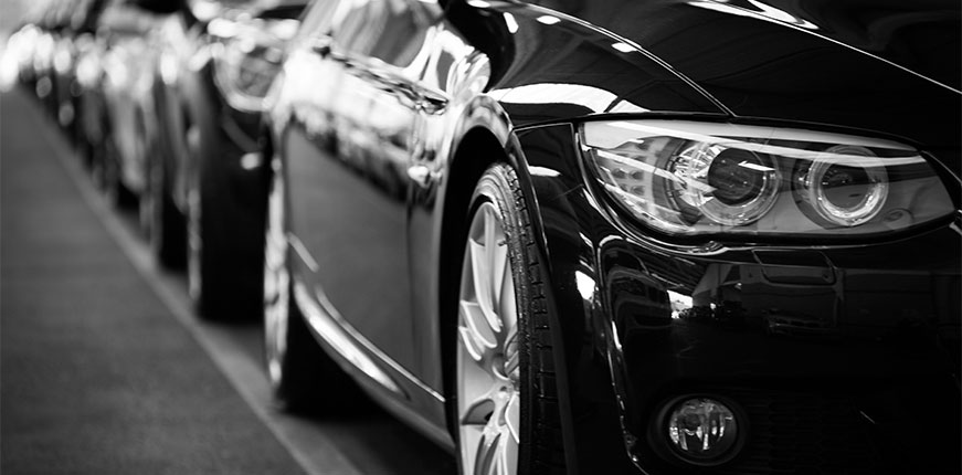 Stock image of automobiles