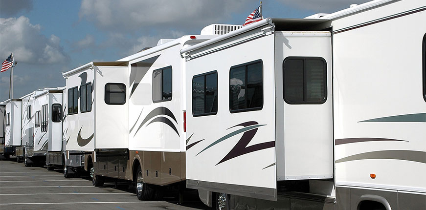 Stock image of recreational vehicles