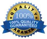 100% Quality Guarantee Seal