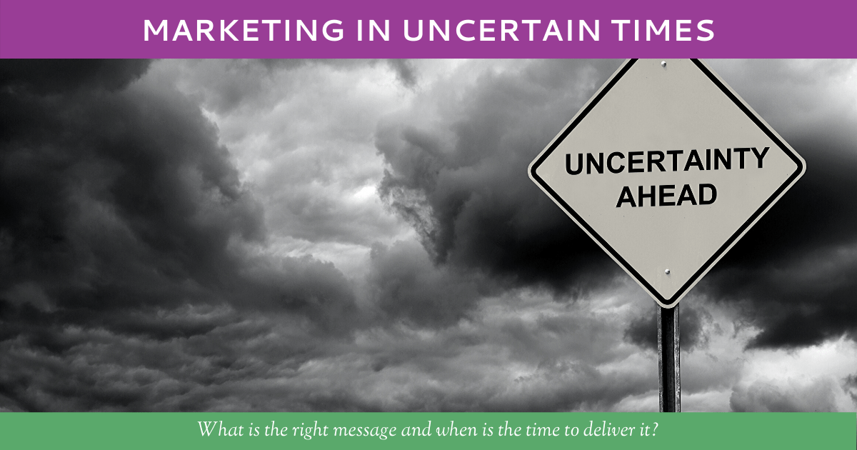 Marketing in Uncertain Times by Hummingbird Marketing Services