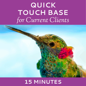 Schedule a Quick Touch Base with Hummingbird Marketing Services (for Current Clients)