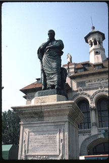 Roman poet Ovid, statue at Constantsa, Romania, where he was exiled. ©James A. Clapp