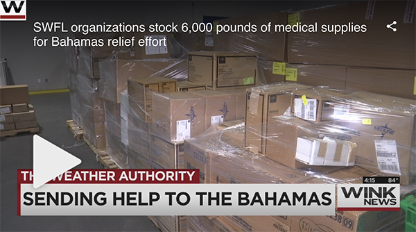 SWFL organizations stock 6,000 pounds of medical supplies for Bahamas relief effort
