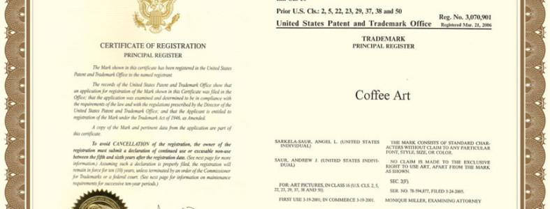 Coffee Art Official Trademark