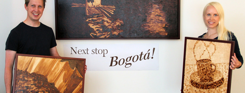 Coffee Art® Art in Embassies exchange to Bogota Colombia