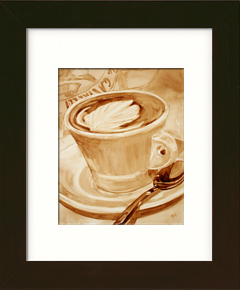 Framed Coffee Art Example