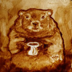 Coffee Art® - Groundhog Day 2017