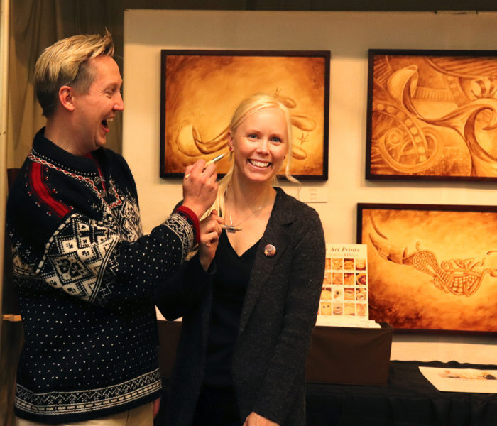 Coffee Art - Norsk Hostfest Andy and Angel