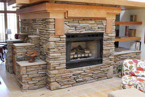 Indoor Custom Fireplace