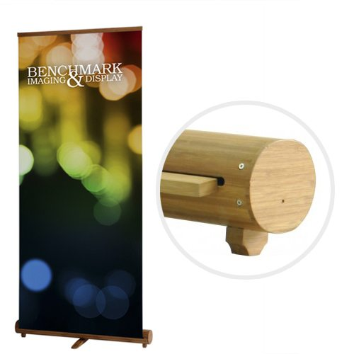Eco-Friendly and Recyclable Bamboo Banner Stand with Custom Graphics