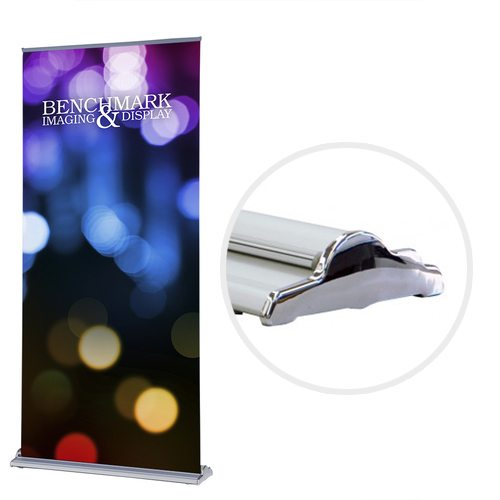 Versatile Banner Stand with Custom Graphic