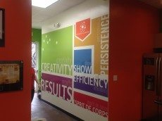 Inspiration Wall with Cut Vinyl