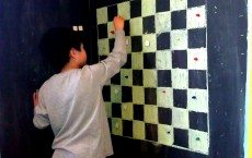 Magnetic Checkerboard Wall