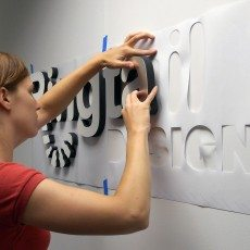 Installing Dimensional Letters