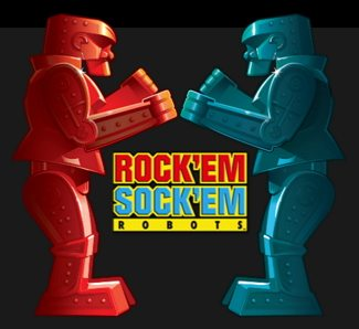 BIG Rock'em Sock'em Backlit Graphic for Dave & Buster's